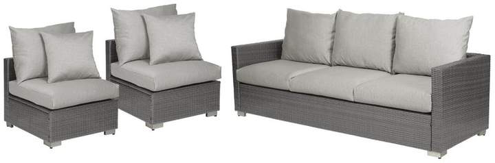 Ivy Sarver 3 Piece Sofa Set With Cushions For 2019 Mcmanis Patio Sofas With Cushion (View 7 of 20)