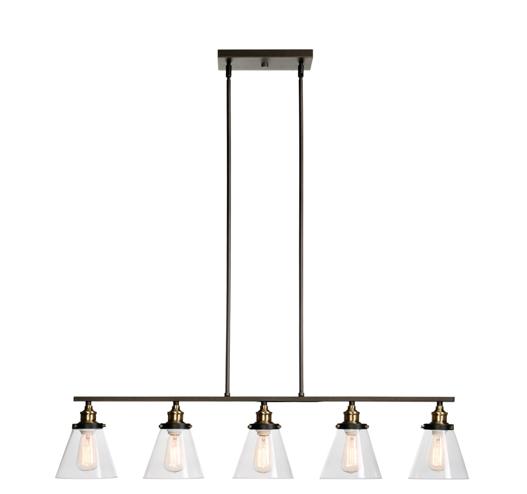 Jackson 5 Light Kitchen Island Linear Pendant Within 2019 Bouvet 5 Light Kitchen Island Linear Pendants (View 16 of 20)