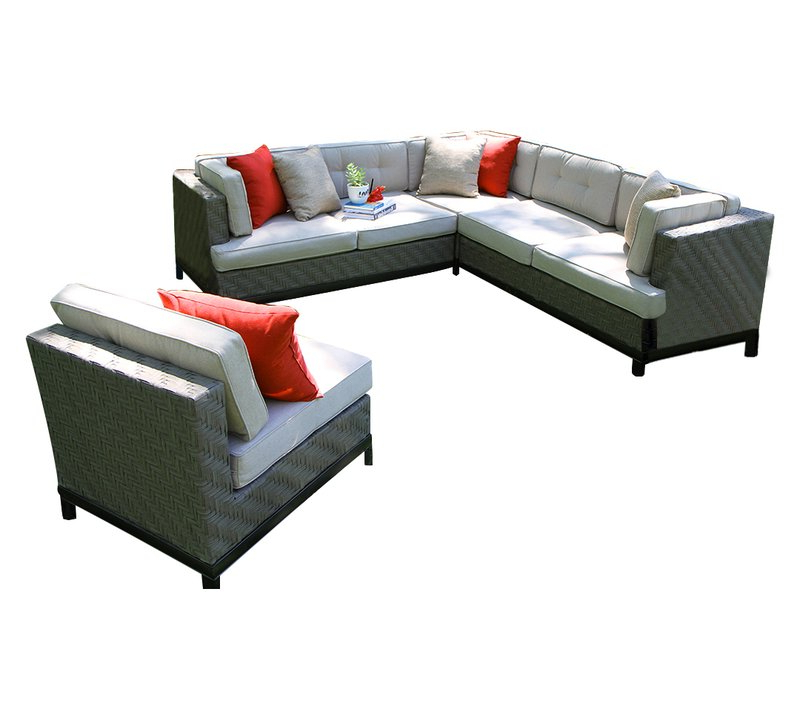 Jamarion 4 Piece Sectionals With Sunbrella Cushions In Well Known Jamarion 4 Piece Sectional With Sunbrella Cushions (Gallery 1 of 20)