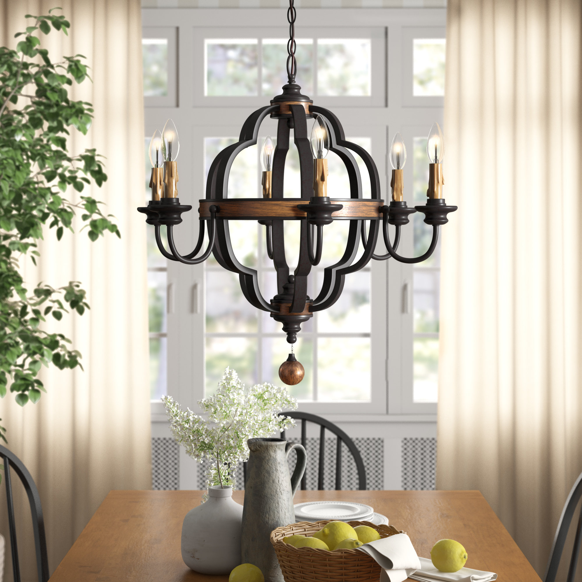 Jamesburg 6 Light Chandelier In Well Liked Donna 6 Light Globe Chandeliers (View 14 of 20)