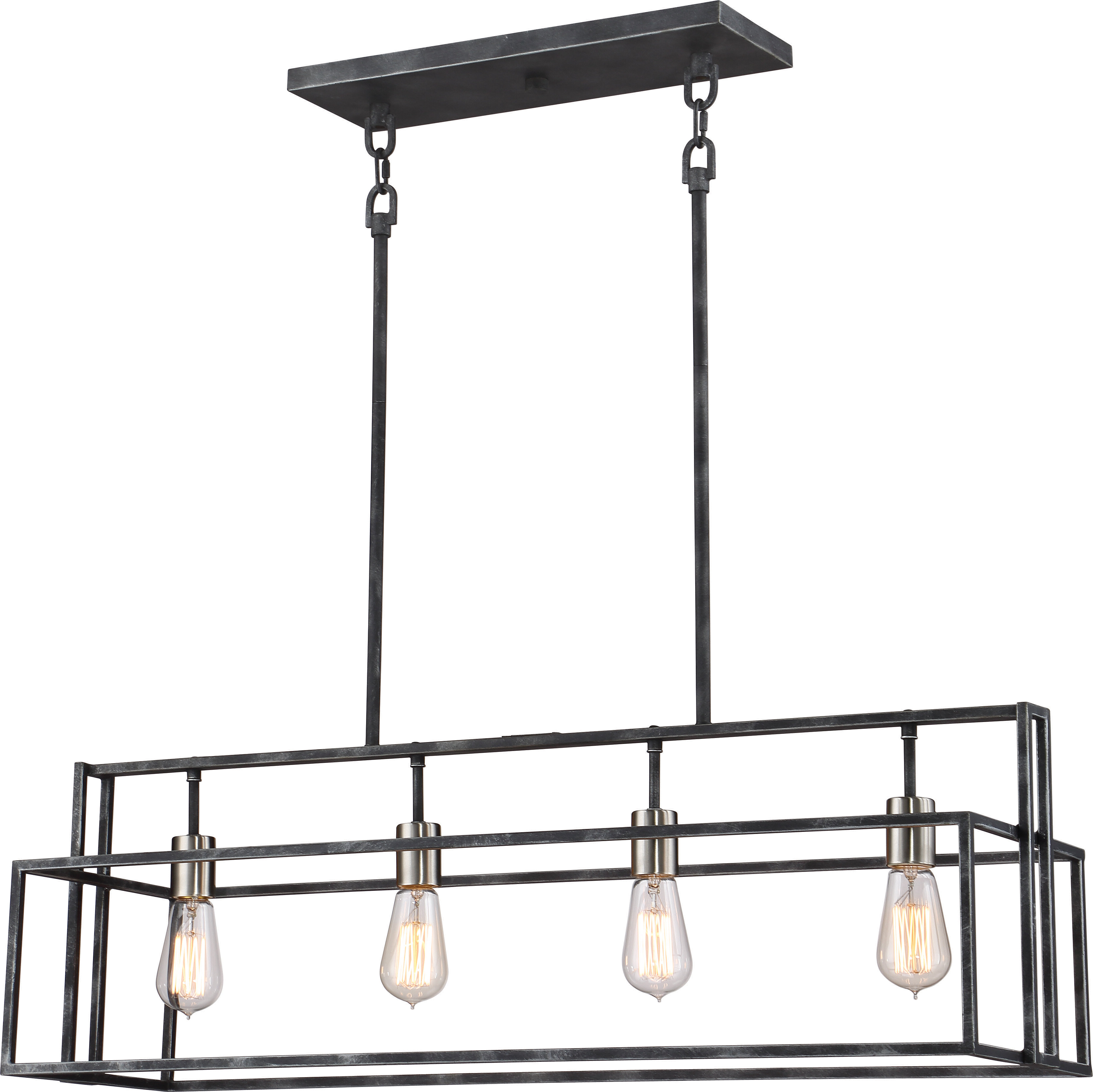 Jefferson 4 Light Kitchen Island Linear Pendant Intended For Best And Newest Sousa 4 Light Kitchen Island Linear Pendants (View 4 of 20)
