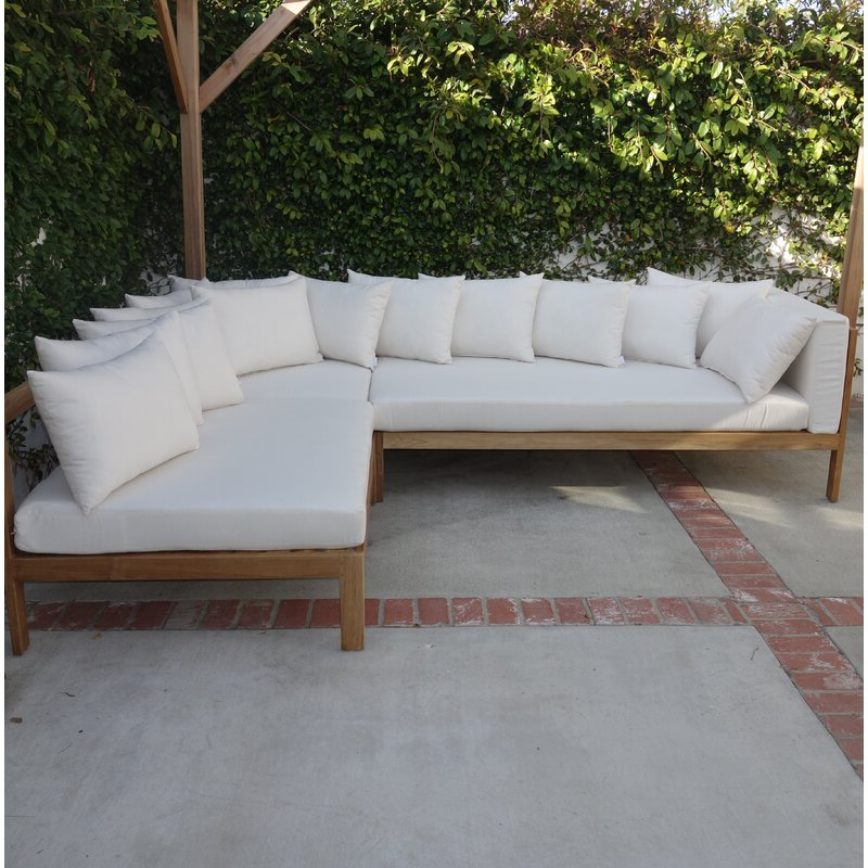 Jerrie Patio Sectional With Sunbrella Cushions Throughout Well Known Wrobel Patio Sectionals With Cushion (View 5 of 20)