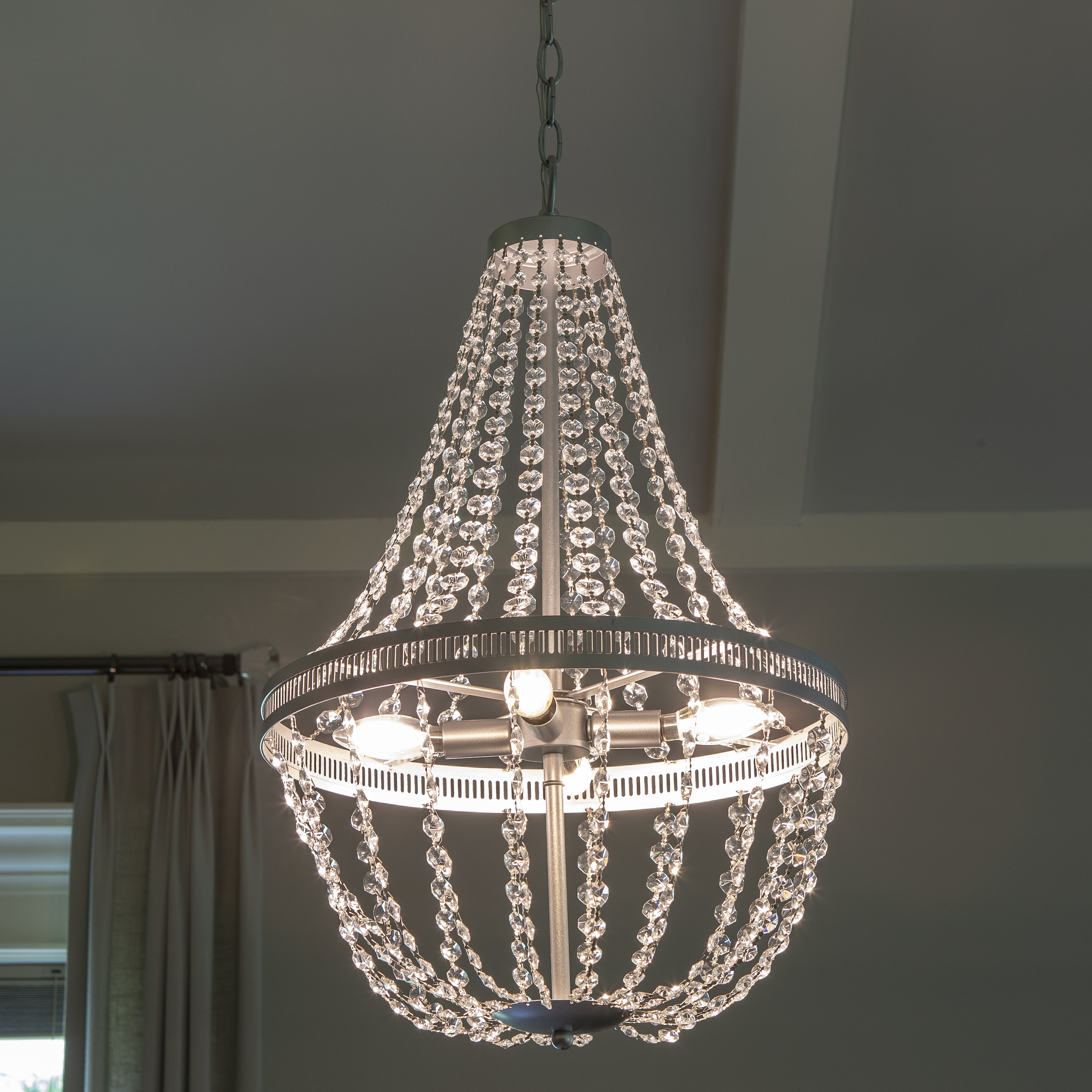 Jill 4 Light Drum Chandeliers Inside Most Up To Date Weidman 4 Light Crystal Chandelier (Gallery 14 of 20)