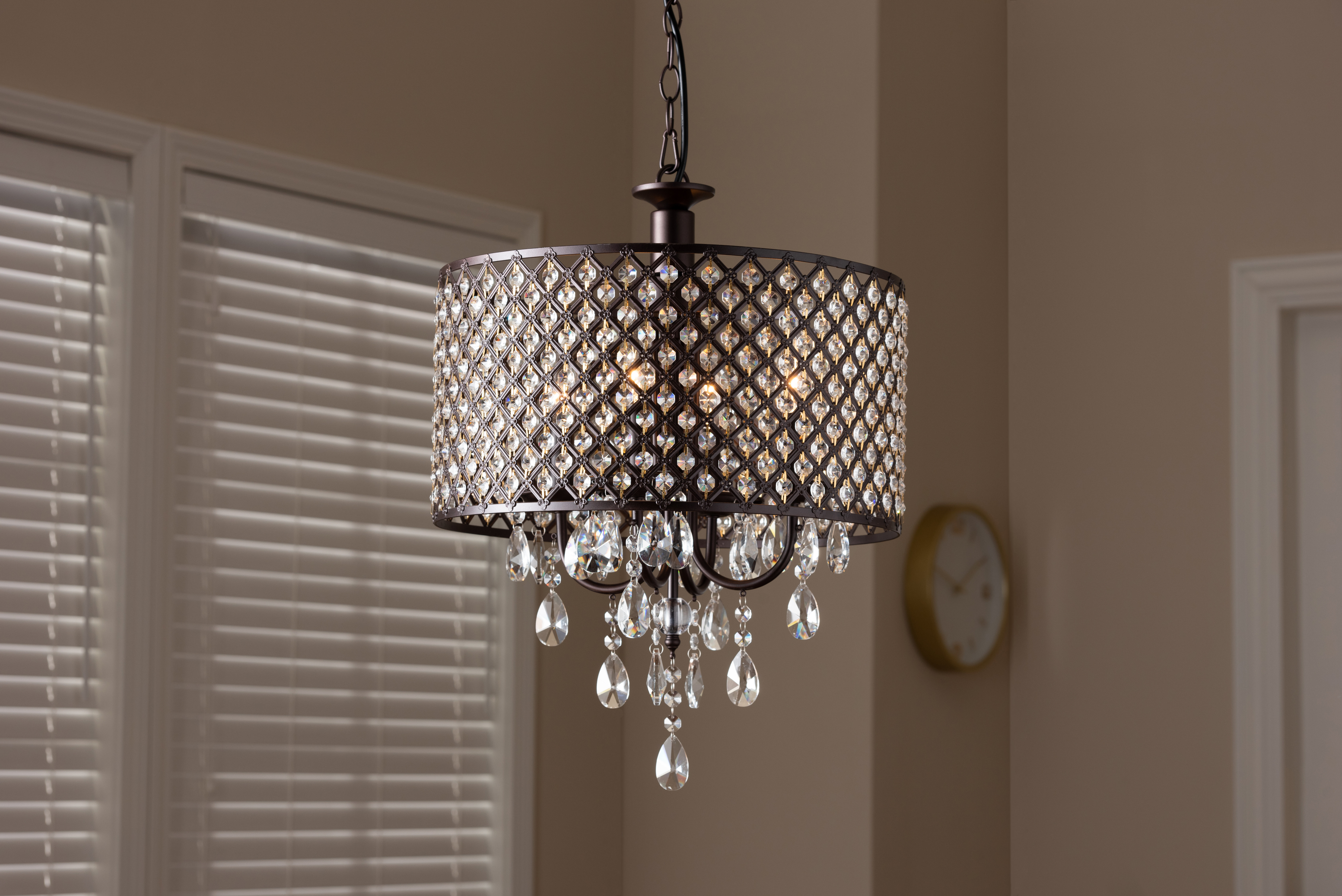 Jill 4 Light Drum Chandeliers Pertaining To Fashionable Yerkes 4 Light Drum Chandelier (Gallery 7 of 20)