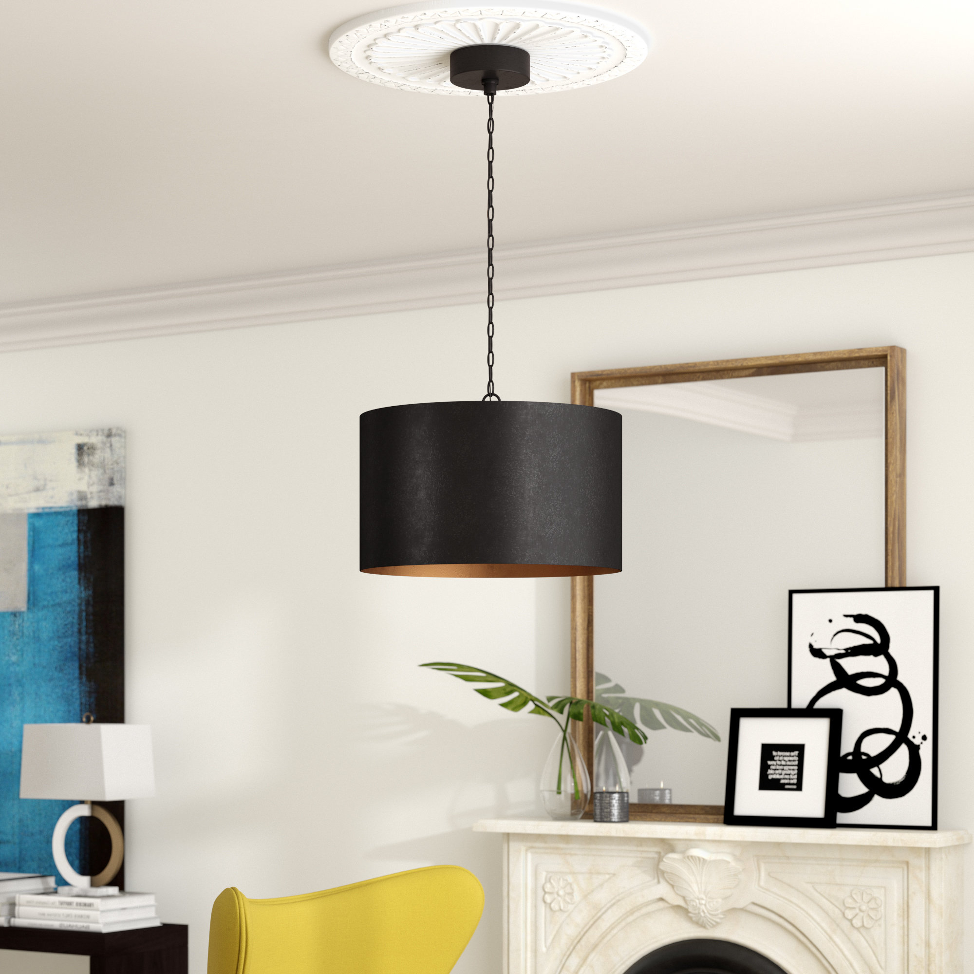 Johana 3 Light Drum Chandelier Within Well Liked Friedland 3 Light Drum Tiered Pendants (View 10 of 20)