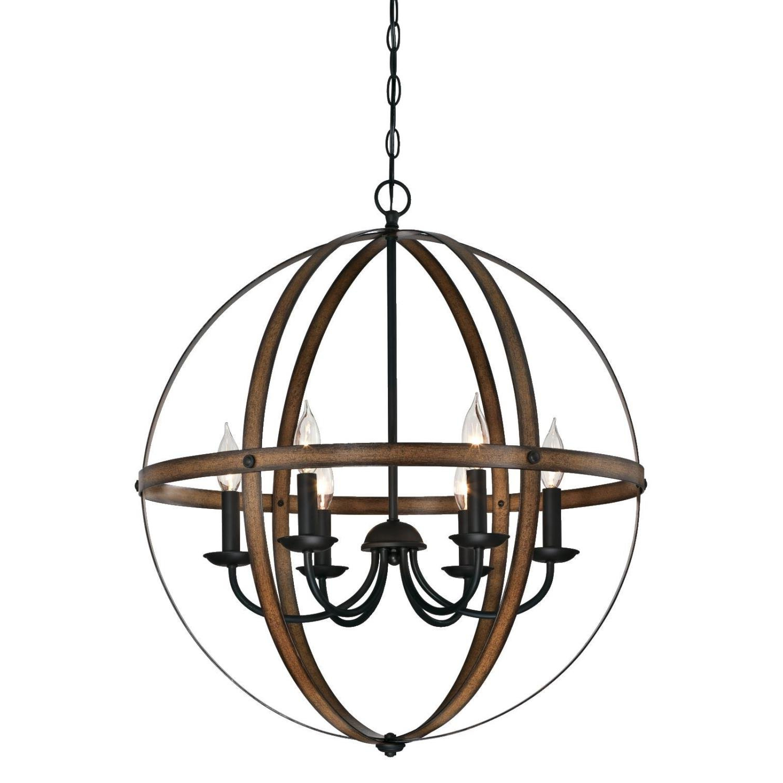 Joon 6 Light Globe Chandelier For Most Popular Donna 4 Light Globe Chandeliers (Gallery 13 of 20)