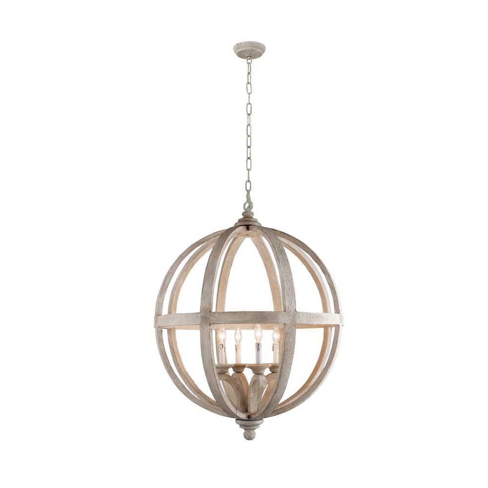 Joon 6 Light Globe Chandeliers With 2019 Hercules 4 Light Brown Wood Globe Chandelier (View 10 of 20)