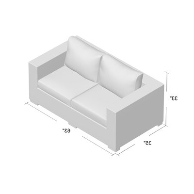 Joss & Main Throughout Provencher Patio Loveseats With Cushions (View 6 of 20)