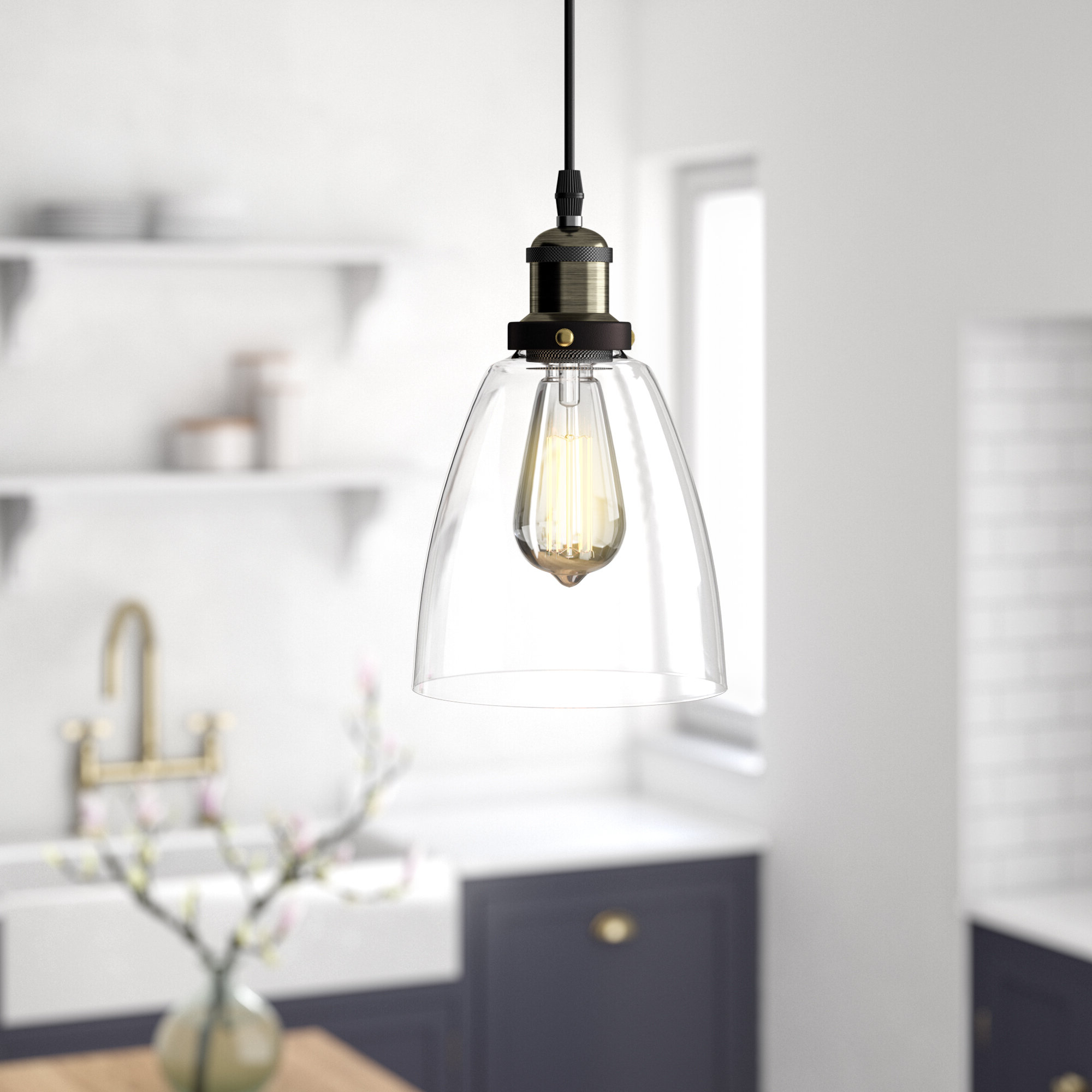 Joss & Main With Houon 1 Light Cone Bell Pendants (Gallery 10 of 20)