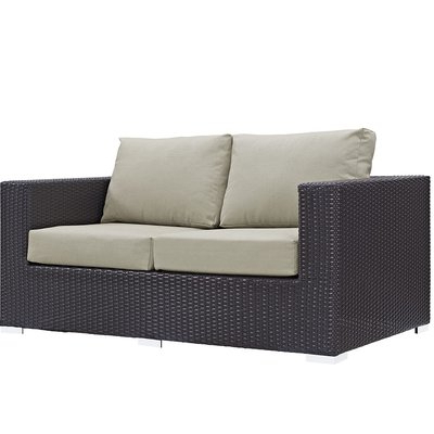 Joss & Main Within Provencher Patio Loveseats With Cushions (View 7 of 20)