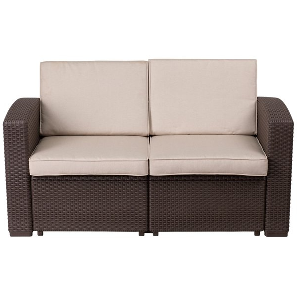 Karan Wicker Patio Loveseats Intended For 2019 Clifford Loveseat With Cushion (View 2 of 20)