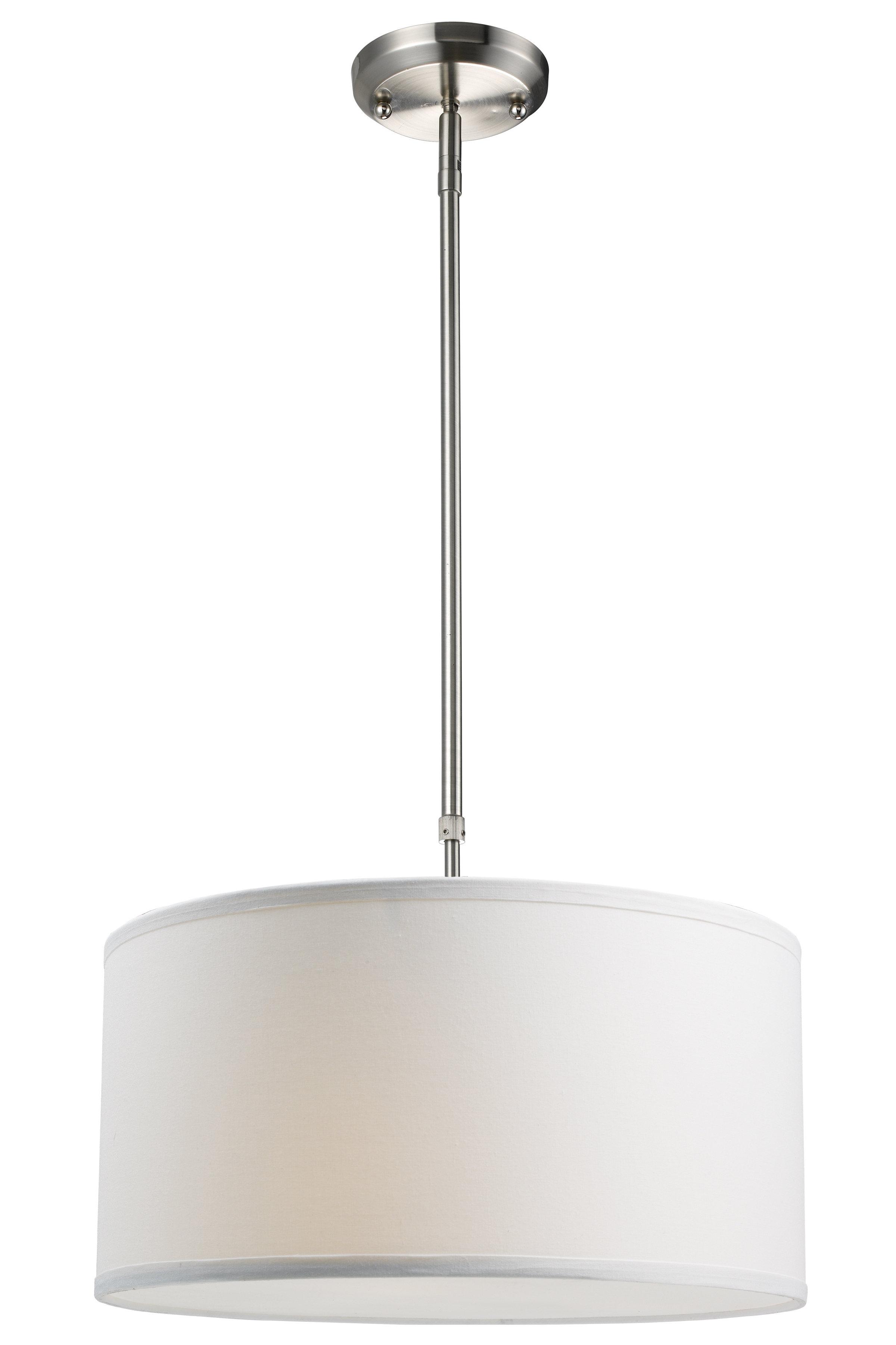 Featured Photo of Kasey 3 Light Single Drum Pendants