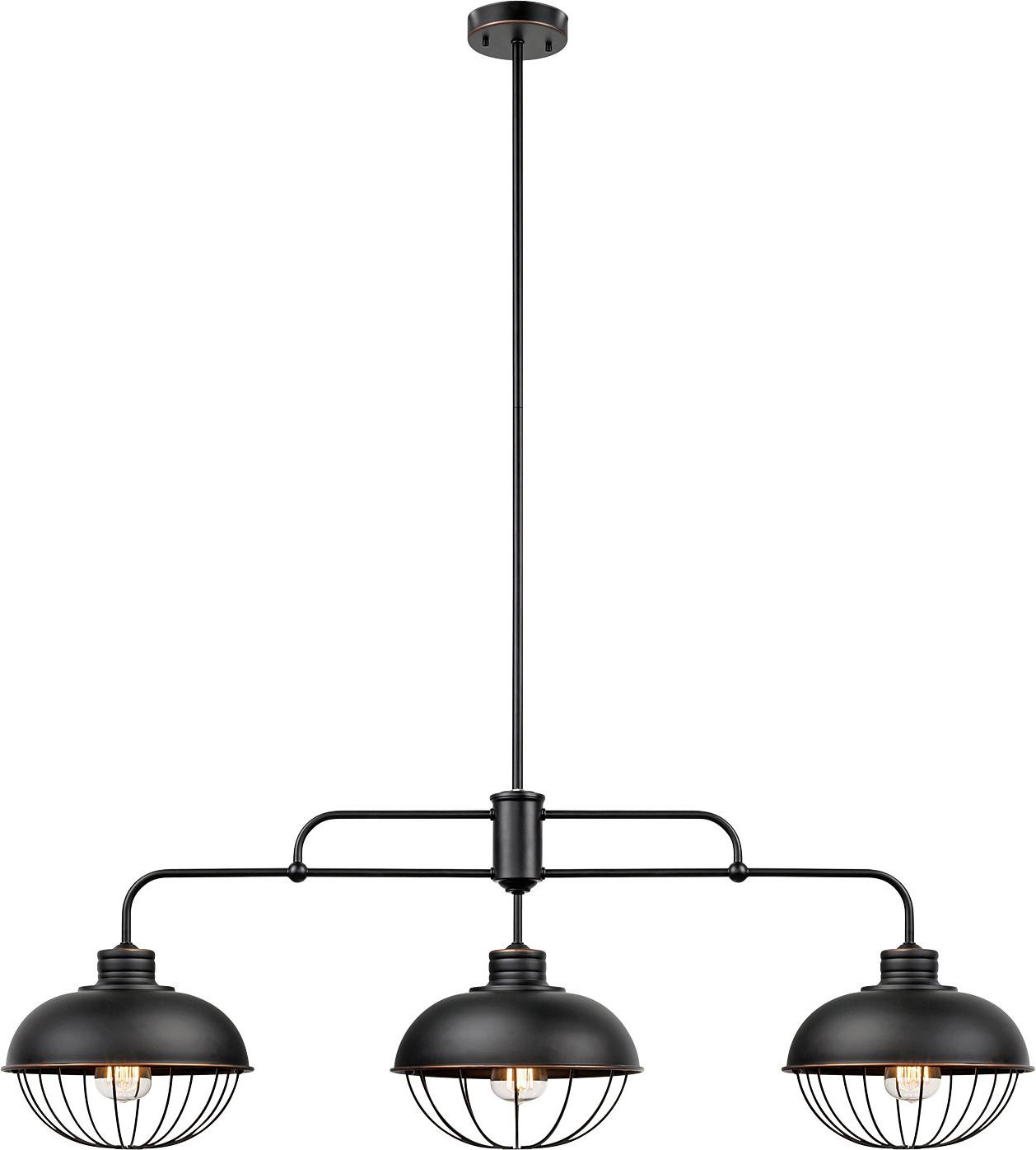 Kathi 3 Light Kitchen Island Linear Pendant With Latest Dunson 3 Light Kitchen Island Pendants (View 11 of 20)