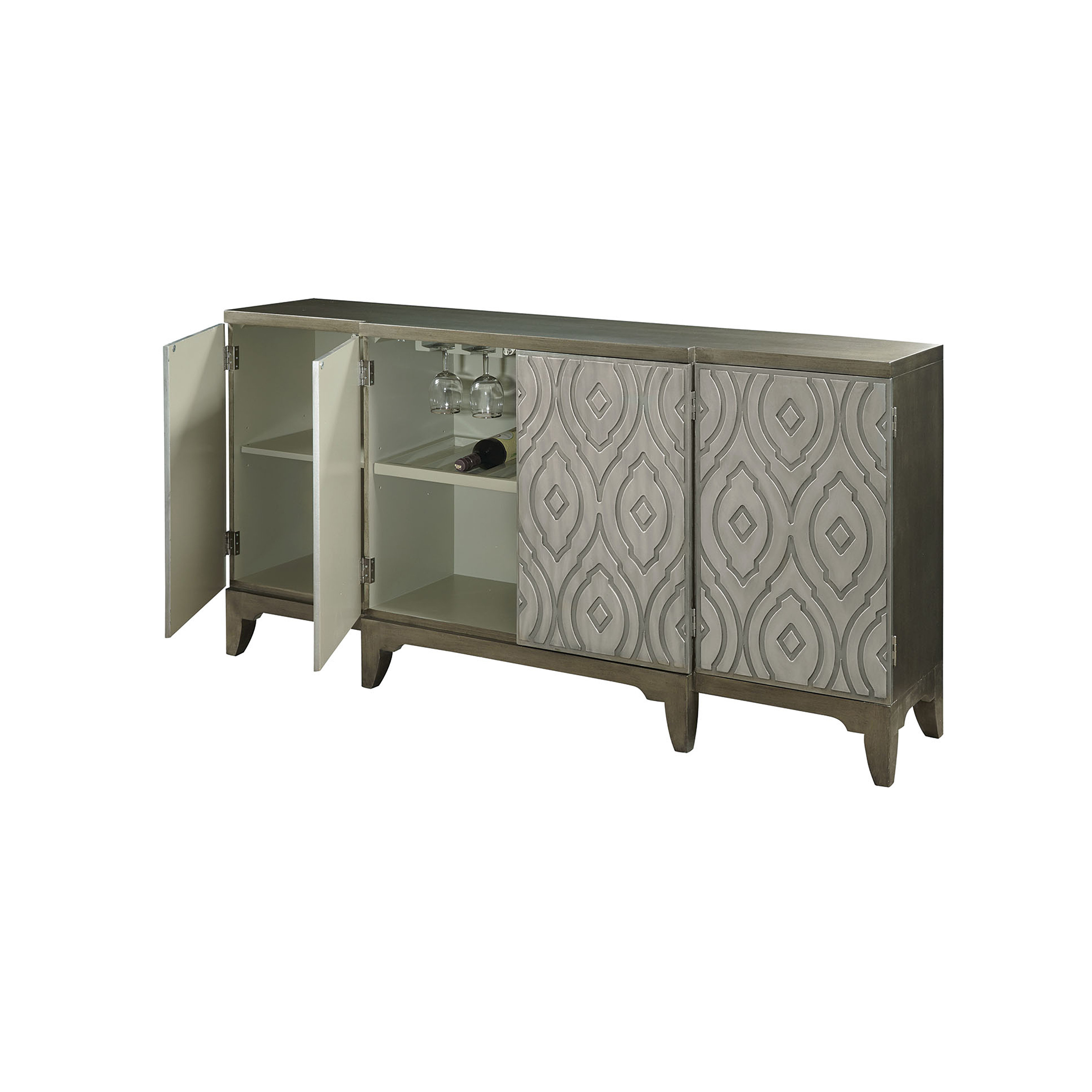 Kattie 4 Door Accent Cabinet Intended For Best And Newest Kattie 4 Door Cabinets (View 7 of 20)