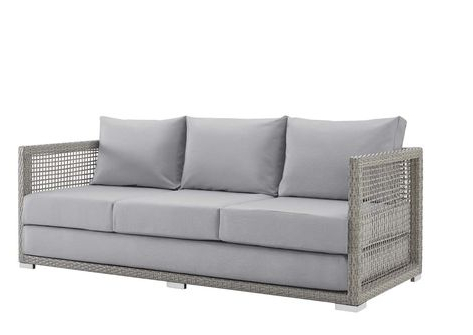 Keever Patio Sofa With Sunbrella Cushions Regarding Fashionable Keever Patio Sofas With Sunbrella Cushions (Gallery 11 of 20)