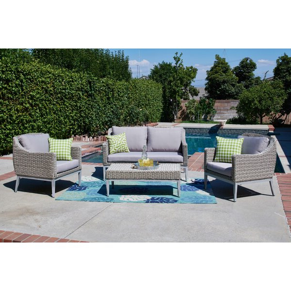 Keever Patio Sofas With Sunbrella Cushions With Regard To Popular Amazing Miser 24 Oz. Plastic Drinking Glass (set Of 4) (Gallery 13 of 20)