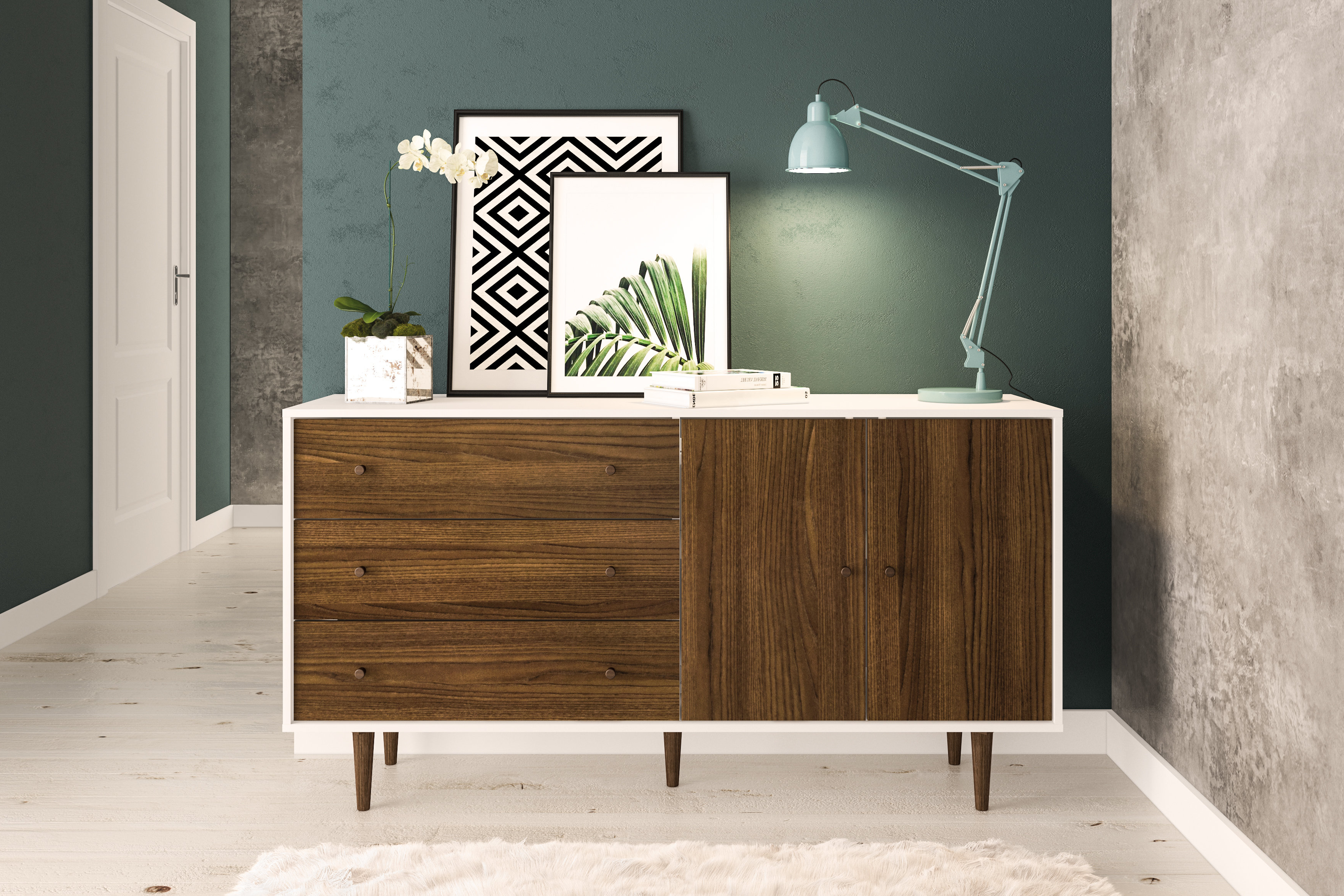 Keiko Modern Bookmatch Sideboards Within Newest Schaeffer Sideboard (View 13 of 20)