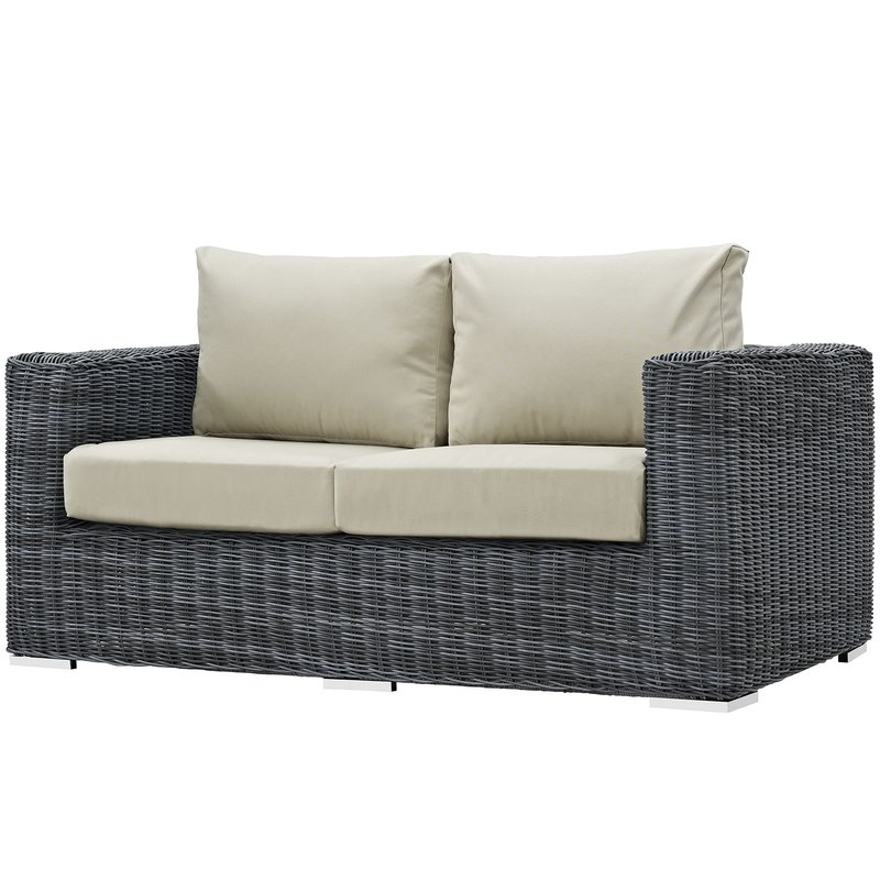 Keiran Loveseat With Cushions Inside Well Known Keiran Patio Daybeds With Cushions (View 7 of 20)
