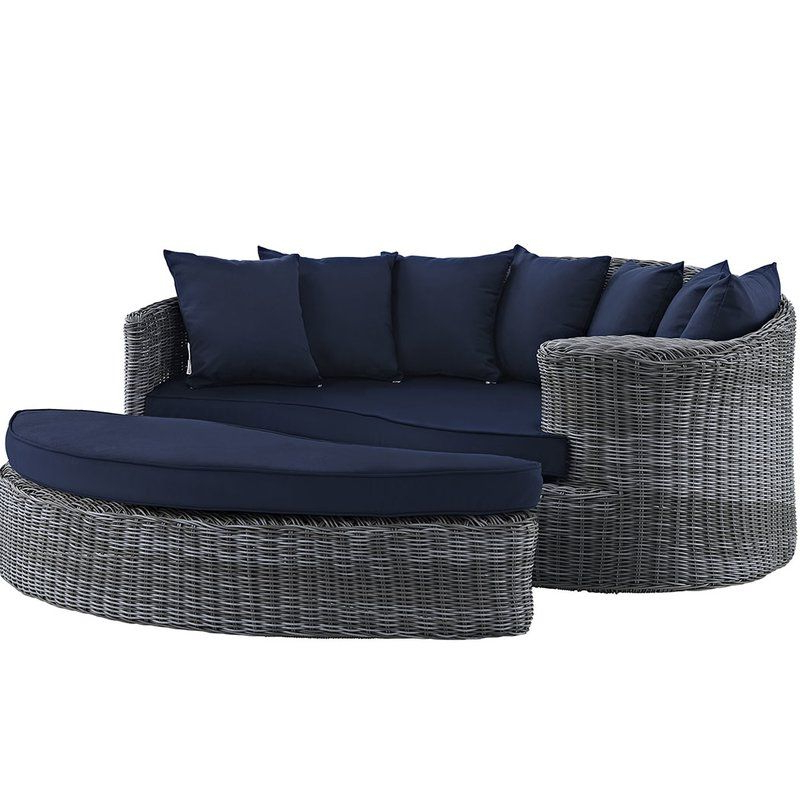 Keiran Patio Daybed With Cushions In  (View 13 of 20)