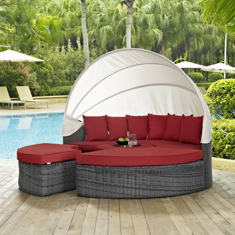 Keiran Patio Daybeds With Cushions For Fashionable Keiran Daybed With Cushions (View 7 of 20)