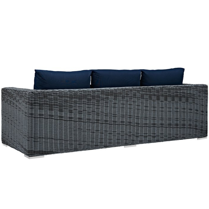 Keiran Patio Sofas With Cushions In Most Current Keiran Patio Sofa With Cushions (View 5 of 20)