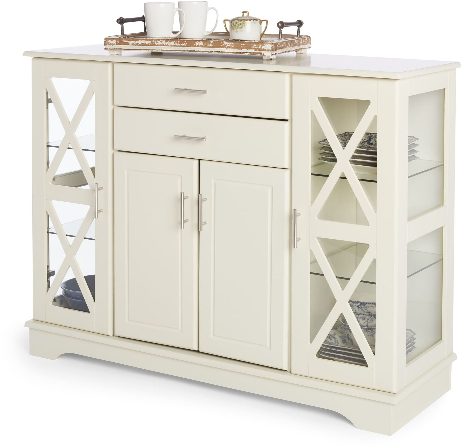 Kendall Sideboards Throughout Current Simple Living Antique White Kendall Buffet Display Cabinet Drawers (View 8 of 20)