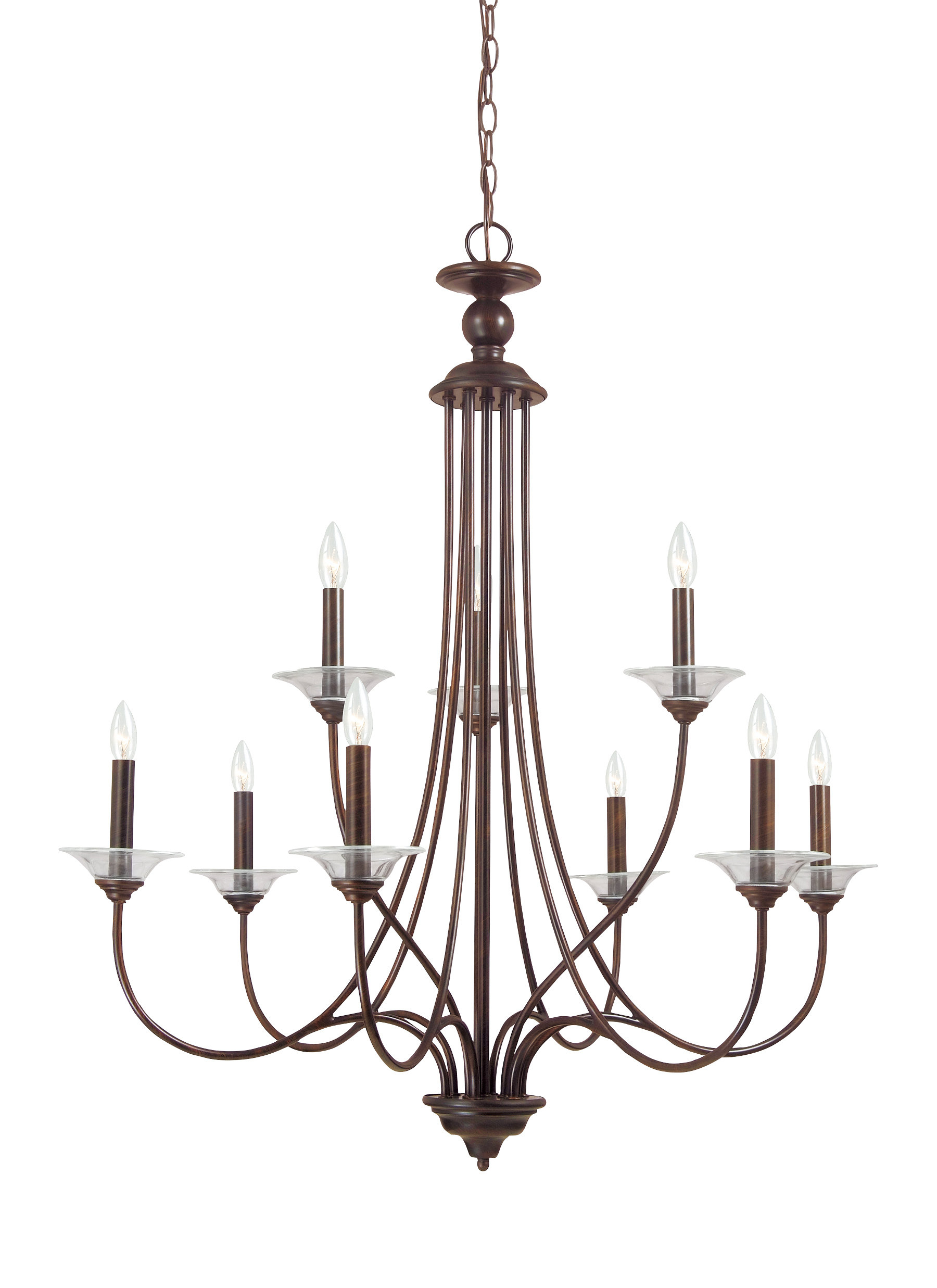 Kenedy 9 Light Candle Style Chandeliers Pertaining To Well Known Barbro 9 Light Chandelier (View 6 of 20)