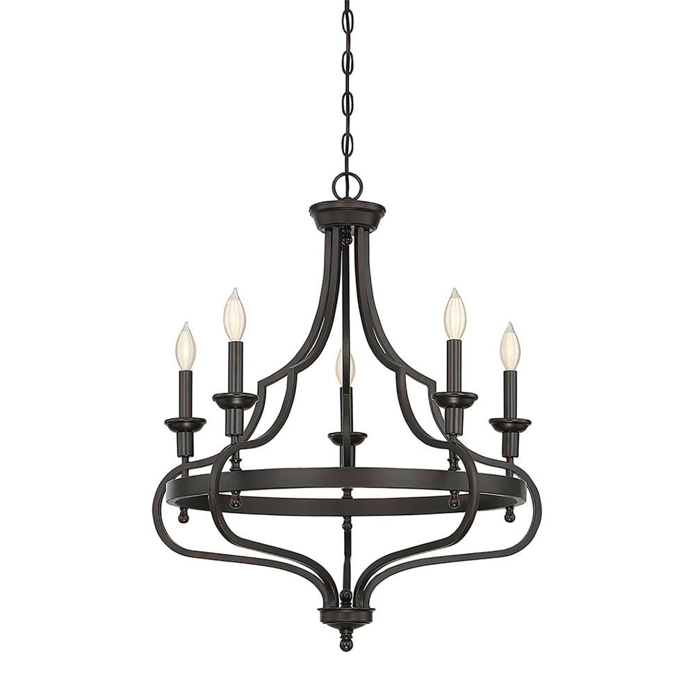 Kenedy 9 Light Candle Style Chandeliers Within Well Known Filament Design 5 Light English Bronze Chandelier (View 9 of 20)
