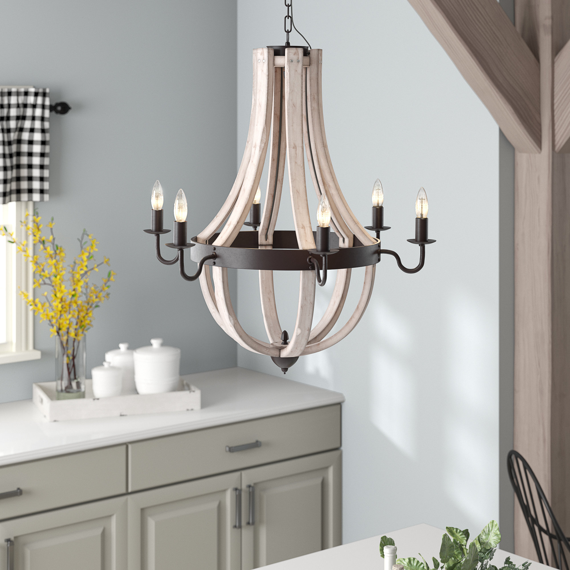 Kenna 5 Light Empire Chandeliers With Well Known August Grove Phifer 6 Light Empire Chandelier (View 9 of 20)