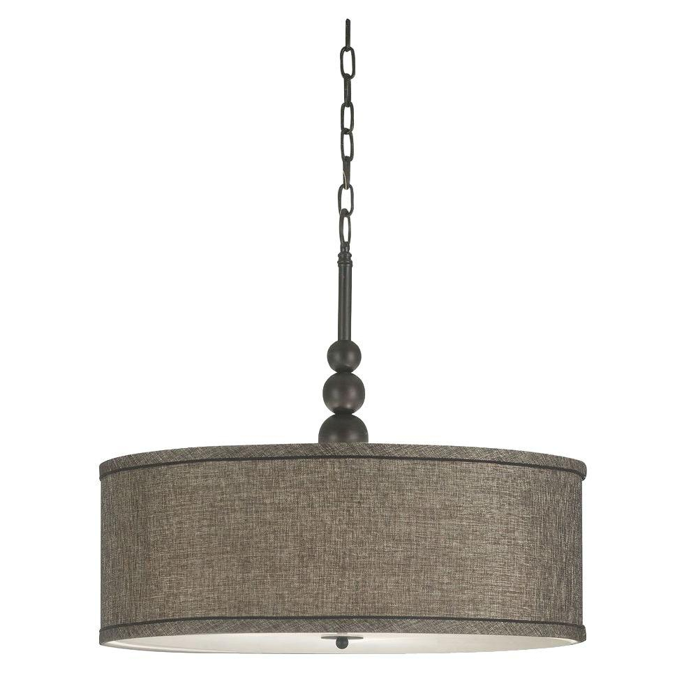 Kenroy Home Margot 3 Light Oil Rubbed Bronze Pendant Intended For Most Recent Harlan 5 Light Drum Chandeliers (View 16 of 20)