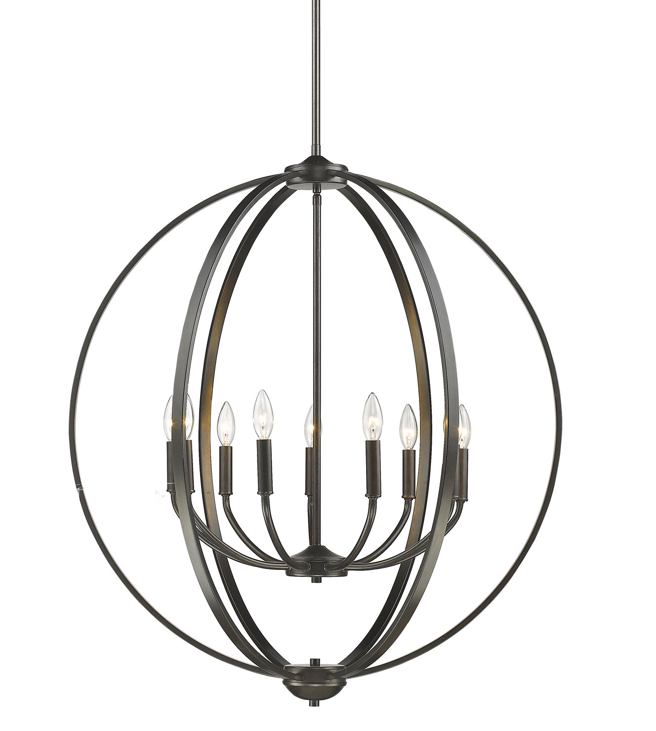 Kierra 4 Light Unique / Statement Chandeliers Pertaining To Well Known Earlene 9 Light Globe Chandelier (View 11 of 20)