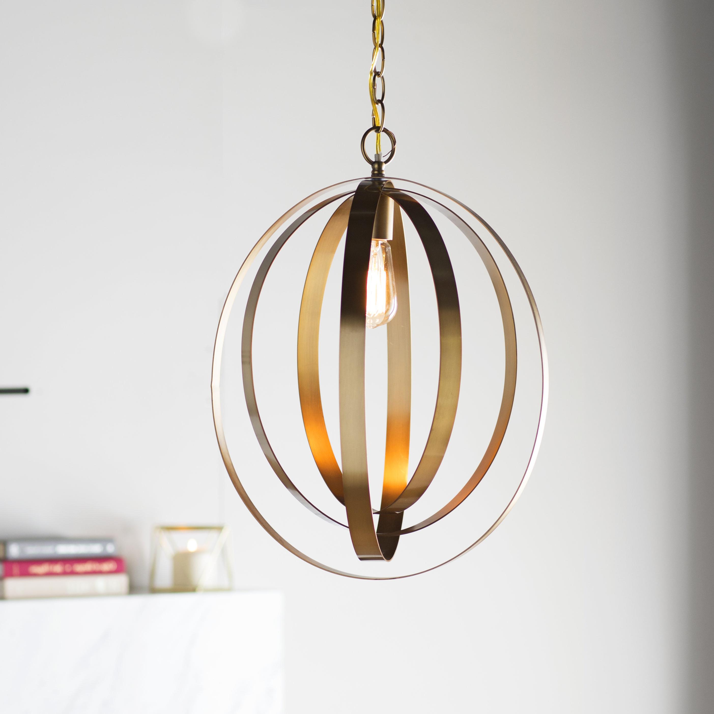 Kilby 1 Light Pendants Within Famous Arango 1 Light Led Globe Pendant (View 11 of 20)
