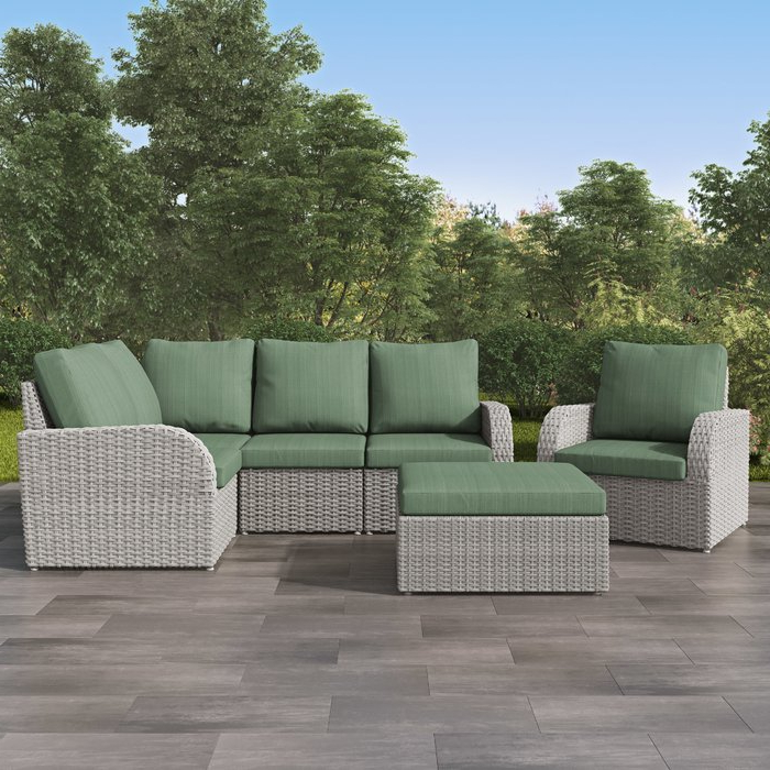 Killingworth Patio Sectional With Cushions With Regard To Preferred Jamarion 4 Piece Sectionals With Sunbrella Cushions (Gallery 11 of 20)