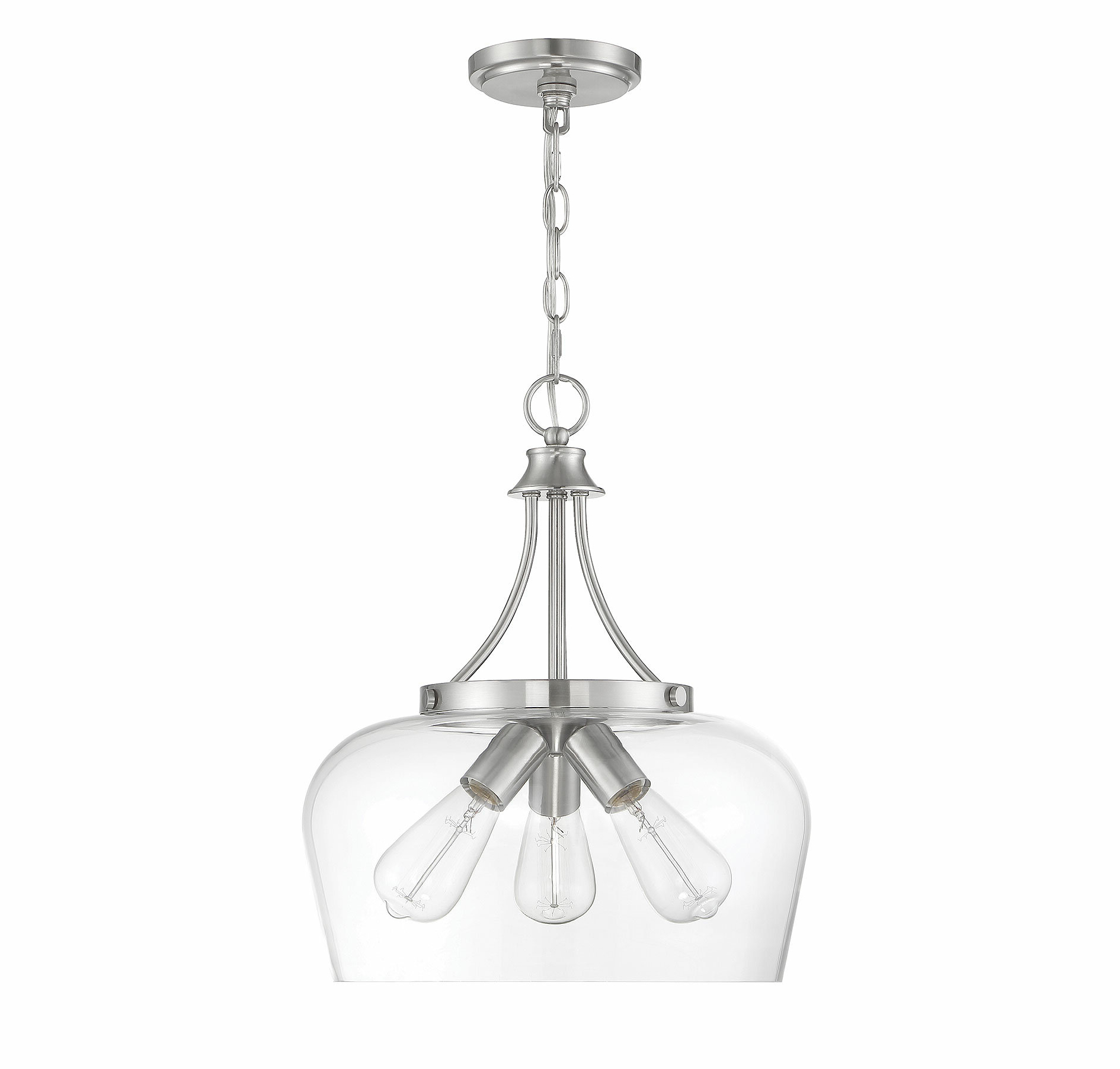 Kimsey 1 Light Teardrop Pendants Regarding Most Current Pewter & Silver & Satin Nickel Pendant Lighting You'll Love (View 7 of 20)