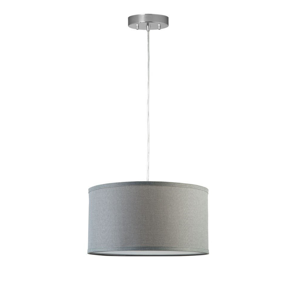 Kluge 1 Light Drum Pendant In Well Known Kasey 3 Light Single Drum Pendants (View 11 of 20)