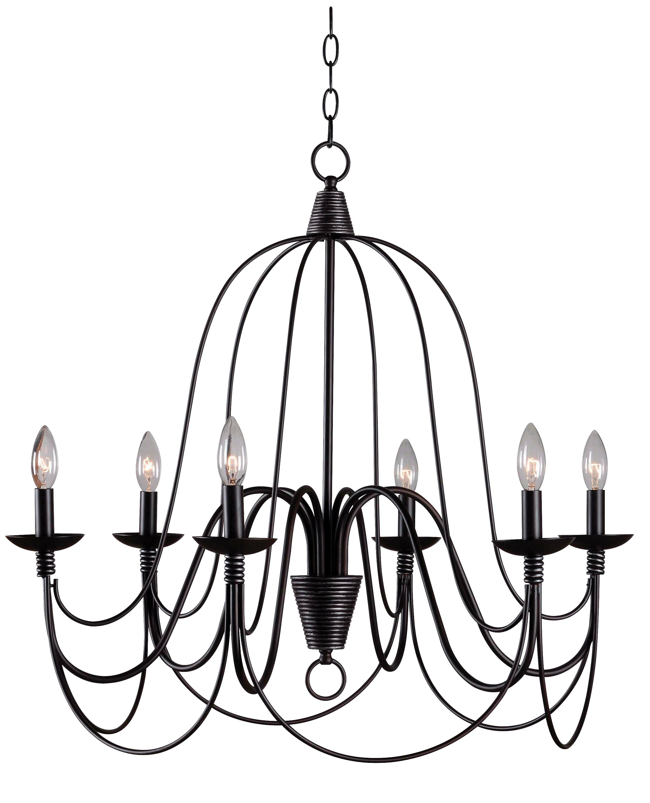 Kollman 6 Light Candle Style Chandelier In Well Known Camilla 9 Light Candle Style Chandeliers (View 13 of 20)