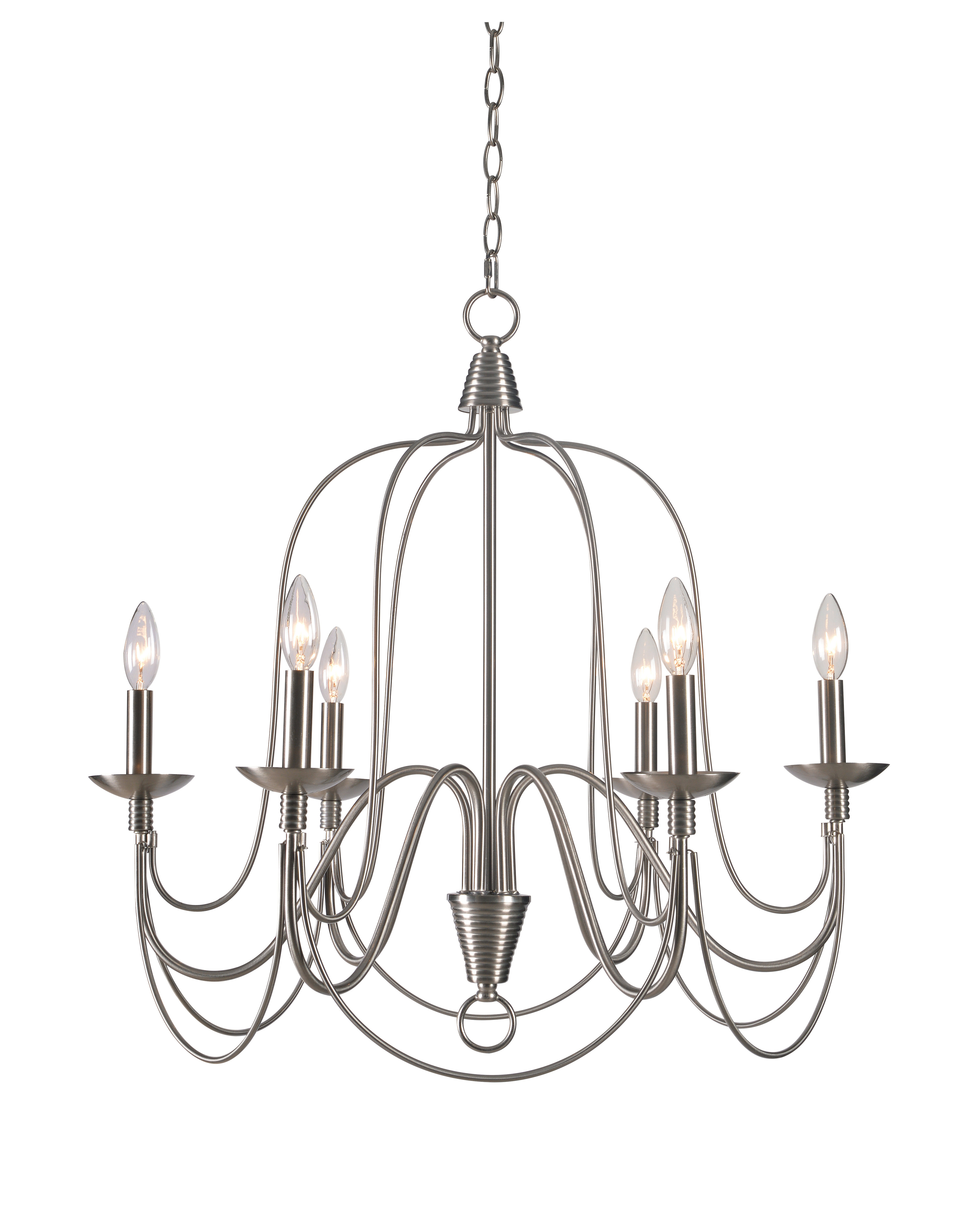 Kollman 6 Light Candle Style Chandelier Throughout Favorite Armande Candle Style Chandeliers (View 12 of 20)