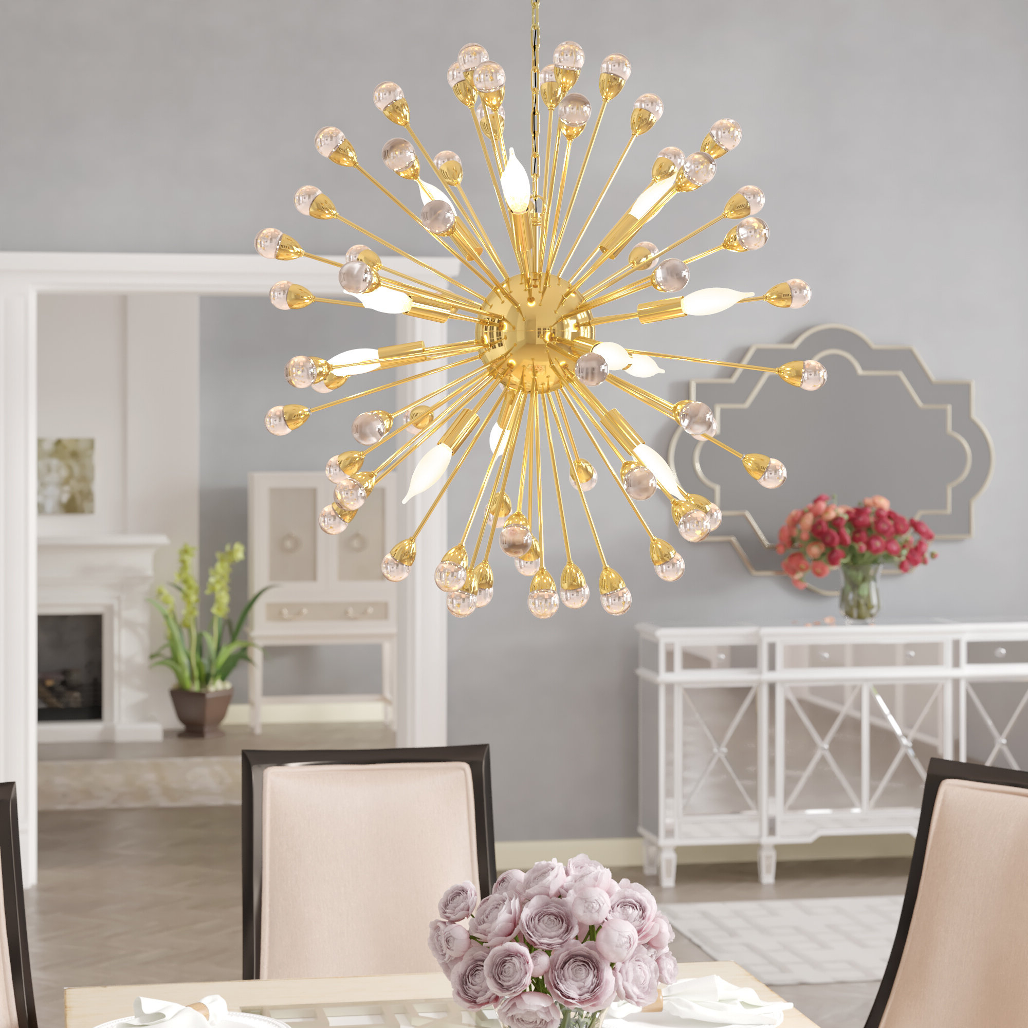 Kucharski 12 Light Sputnik Chandelier In Preferred Nelly 12 Light Sputnik Chandeliers (View 4 of 20)