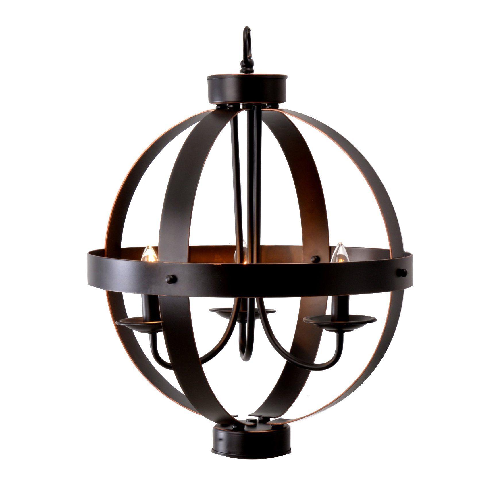 La Sarre 3 Light Globe Chandelier Inside Fashionable La Sarre 3 Light Globe Chandeliers (View 7 of 20)