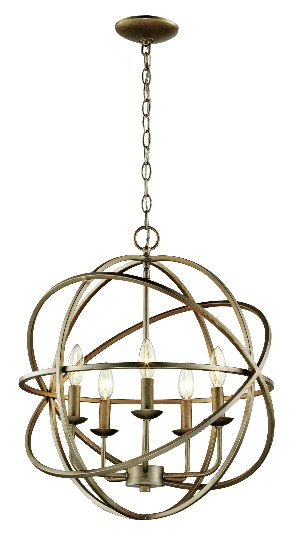 La Sarre 3 Light Globe Chandeliers In Newest Hankinson 5 Light Globe Chandelier (View 8 of 20)
