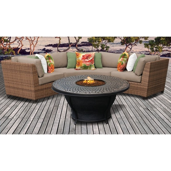 Laguna Outdoor Sofas With Cushions With Regard To Current Shop Laguna 4 Piece Outdoor Wicker Patio Furniture Set 04F (View 8 of 20)