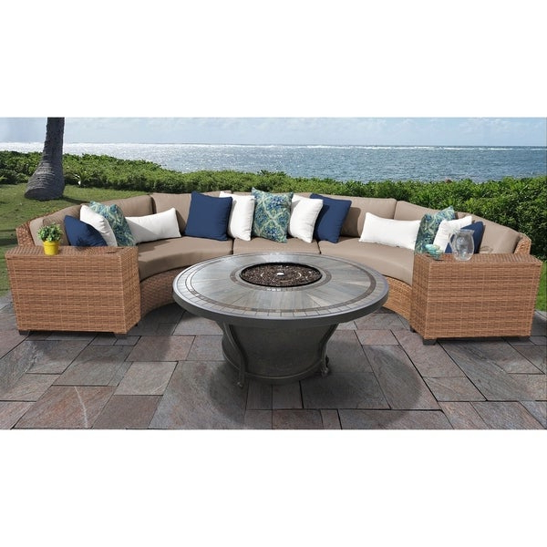 Laguna Outdoor Sofas With Cushions With Well Known Shop Laguna 6 Piece Outdoor Wicker Patio Furniture Set 06N (Gallery 13 of 20)
