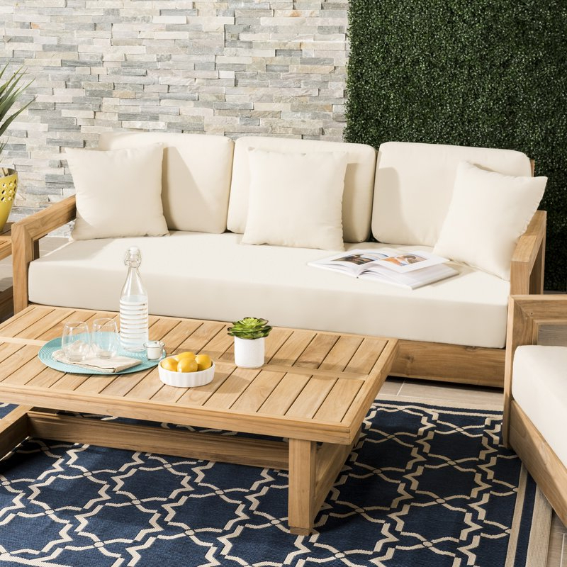 Featured Photo of Lakeland Teak Patio Sofas With Cushions