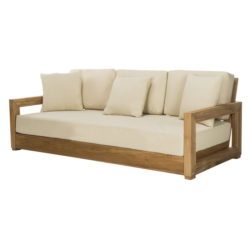 Lakeland Teak Patio Sofa With Cushions Regarding Popular Lakeland Teak Patio Sofas With Cushions (View 8 of 20)