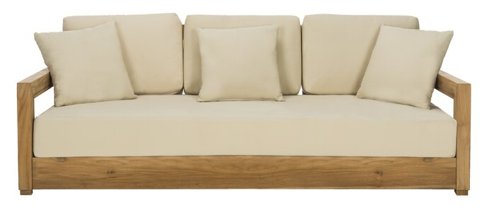 Lakeland Teak Patio Sofas With Cushions Pertaining To Fashionable Rosecliff Heights Lakeland Teak Patio Sofa With Cushions (View 3 of 20)