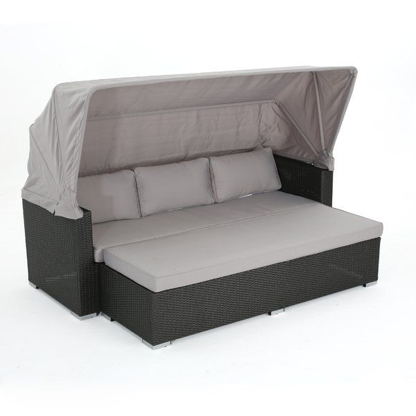 Lammers Outdoor Wicker Daybed With Cushions (View 8 of 20)