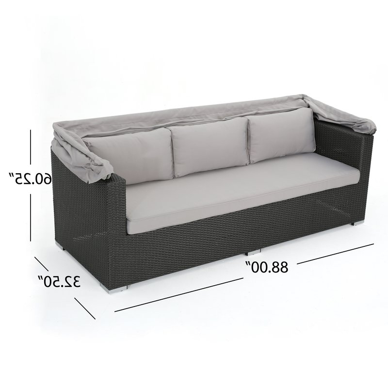 Lammers Outdoor Wicker Daybeds With Cushions For Favorite Lammers Outdoor Wicker Daybed With Cushions (View 9 of 20)