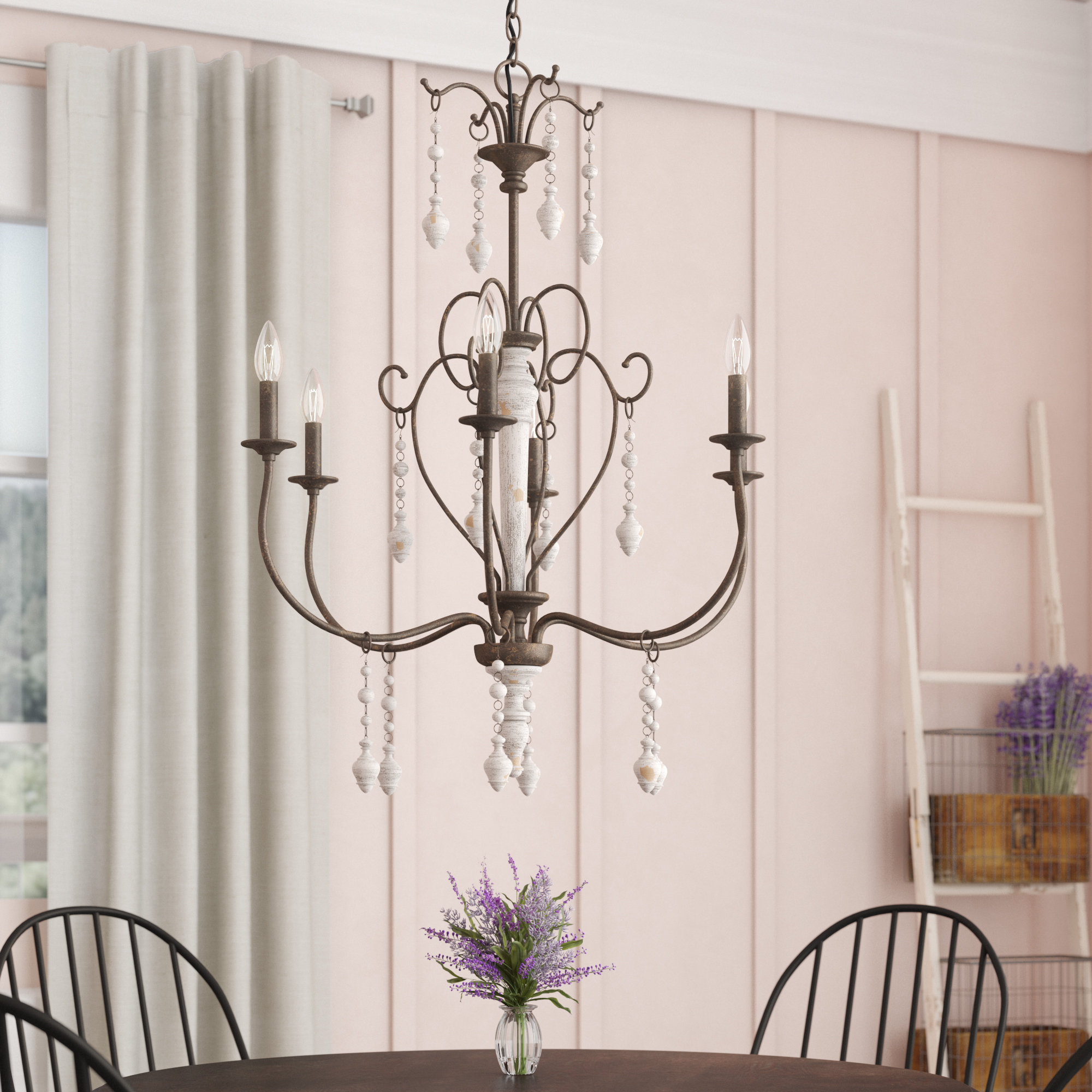 Lark Manor Bouchette Traditional 6 Light Candle Style Intended For Most Current Bouchette Traditional 6 Light Candle Style Chandeliers (View 11 of 20)