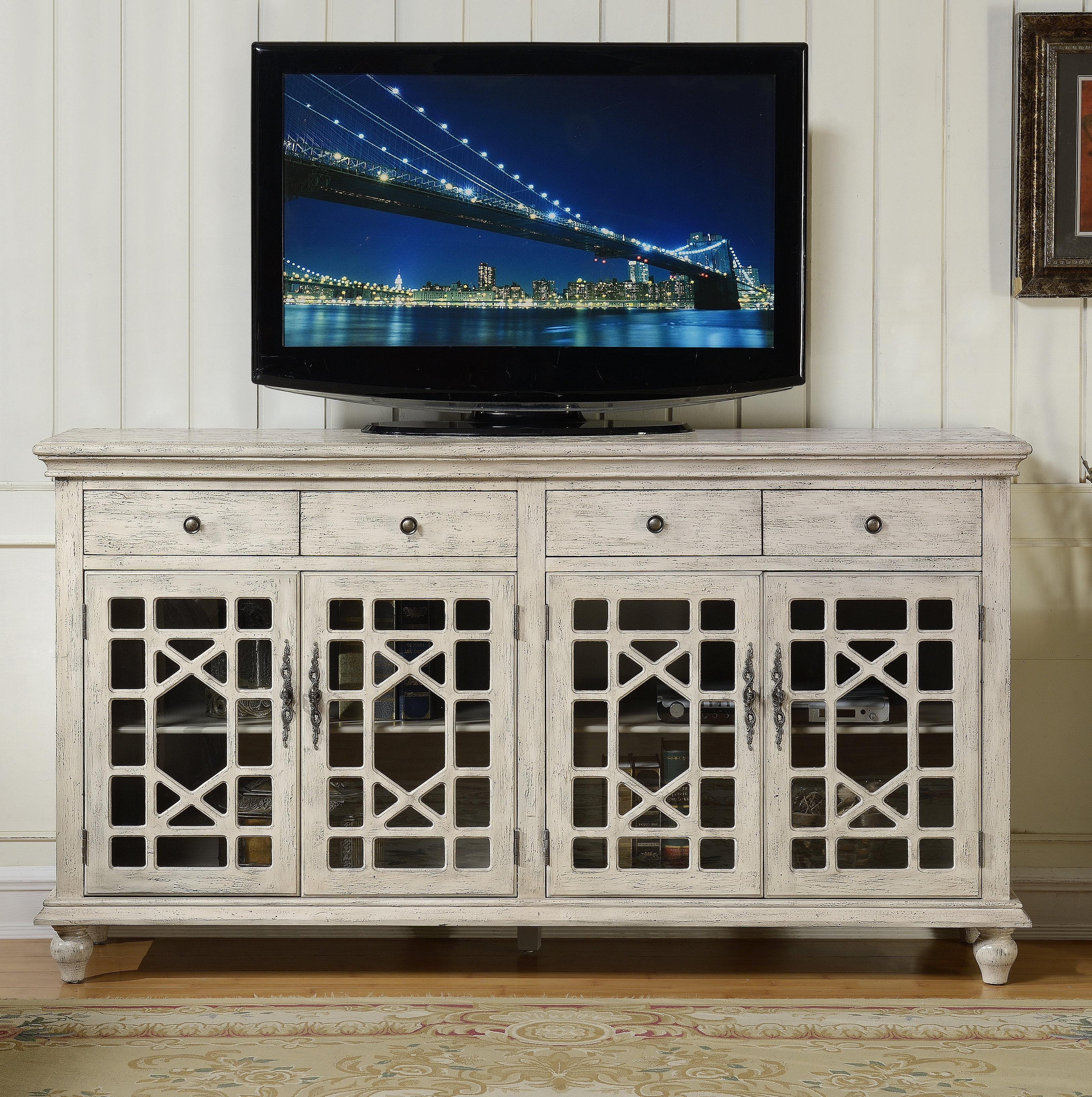 "Lark Manor Mauldin Tv Stand For Tvs Up To 75"" & Reviews Within Well Liked Parmelee Tv Stands For Tvs Up To 65"" (Gallery 3 of 20)"