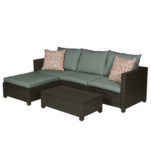 Larsen 5 Piece Sectional Seating Group With Cushions With Regard To Latest Larsen Patio Sectionals With Cushions (Gallery 12 of 20)